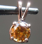 sold.......52ct Fancy Deep Orangy Brown SI2 Round Brilliant Diamond Pendant R7821