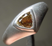 0.44ct Brown Yellow VS2 Heart Diamond Ring GIA R7804