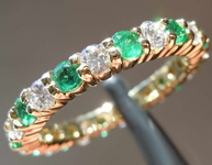 1.28ctw Emerald and Diamond Ring R7735