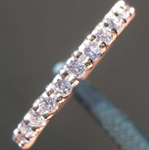 SOLD... .38ctw Light Purplish Pink Round Brilliant Diamond Band R7844