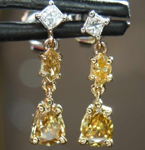 SOLD......79ctw Multi-Colored Diamond Earrings R7874