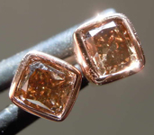 .50ctw Deep Brown Cushion Cut Diamond Earrings R7882