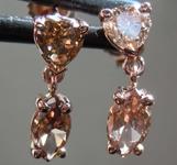 SOLD........1.00ctw Natural Brown Diamond Earrings R7712