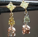 SOLD....... 0.83ctw Fancy Colored Diamond Earrings R7724