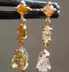 .93ctw Fancy Colored Diamond Earrings R7879