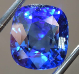 SOLD........4.76ct Blue Cushion Cut Sapphire R7904