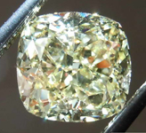 SOLD......1.56ct Light Yellow IF Cushion Cut Diamond R7908