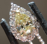 SOLD.....50ct Light Yellow SI1 Pear Shape Diamond Pendant R7880