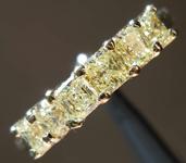 0.75ctw Light Yellow Radiant Cut Diamond Ring R7856