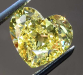 2.03ct Vivid Yellow Heart Shape Diamond R7933