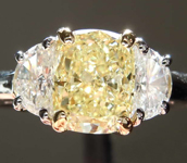 SOLD.....1.46ct Yellow SI2 Cushion Cut Diamond Ring R421