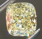 SOLD....1.89ct Light Yellow IF Cushion Cut Diamond R7957
