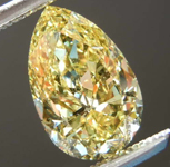 1.55ct Intense Yellow IF Pear Diamond R7958