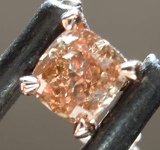 SOLD........ .43ct Yellowish Brown VS2 Cushion Cut Diamond Necklace 7916