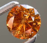 SOLD........70ct Natural Orange I2 Round Brilliant Diamond R7961