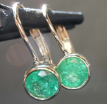 SOLD....63ctw Round Emerald Earrings R7966