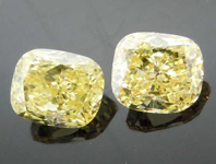 SOLD.......86ctw Fancy Yellow Cushion Cut Diamond Earrings R7705