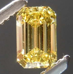 SOLD.....39ct Vivid Yellow VVS2 Emerald Cut Diamond R7980