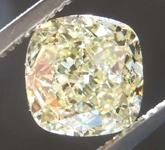 1.91ct Light Yellow VS2 Cushion Cut Diamond R7985