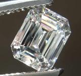 1.04ct F VVS1 Emerald Cut Diamond R6926