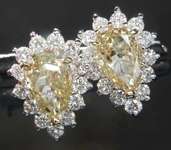 SOLD.....1.04cts Y-Z Pear Shape Diamond Earrings R7948