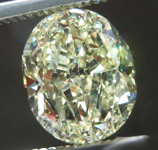 3.06ct Light Yellow VS1 Oval Diamond R7988
