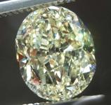 3.06ct Light Yellow VS1 Oval Diamond R7988
