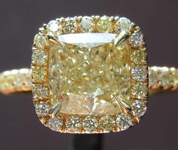 1.76ct Y-Z VVS2 Cushion Cut Diamond Ring R7986