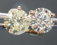 1.21ctw Natural Yellow Round Brilliant Diamond Earrings R4984