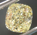 SOLD....1.60ct Yellow VS1 Cushion Cut Diamond R8003