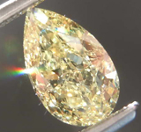 SOLD.....1.01ct Yellow VS2 Pear Shape Diamond R8004