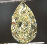 3.03ct Yellow SI2 Pear Shape Diamond R8005