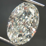 SOLD....3.01ct K SI2 Oval Diamond R8013