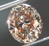 SOLD....1.69ct Yellowish Brown SI2 Oval Diamond R8027