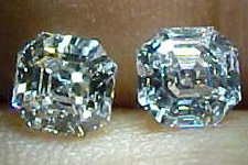 SOLD....Earrings- 1.44ctw Asscher Cut Pair R1281