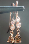 SOLD....58ctw Natural Brown and Pink Diamond Earrings R7978
