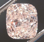 1.01ct Brown Pink SI2 Cushion Cut Diamond R8036