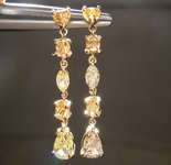 1.68ctw Natural Yellow Diamond Earrings R7983