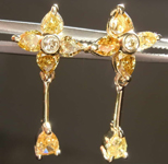 1.19ctw Fancy Colored Diamond Earrings R8032