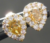 .50cts Brownish Yellow Pear Diamond Earrings R7946