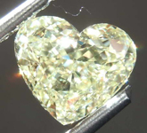 SOLD....1.55ct Light Yellow VVS2 Heart Diamond R8034