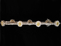 SOLD.....5.07ctw Yellow and Colorless Diamond Bracelet R8070