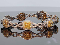 5.69ctw Yellow and Colorless Diamond Bracelet R8071