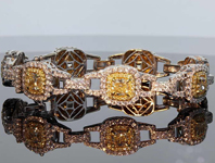 11.56ctw Yellow and Colorless Diamond Bracelet R8072