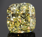 2.17ct Yellow VS2 Cushion Cut Diamond R8077