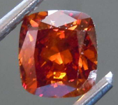 1.01ct Brown Orange I1 Cushion Cut Diamond R8085