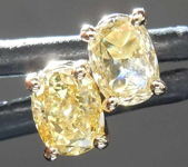 SOLD.....87ctw Yellow Oval Diamond Earrings R8059