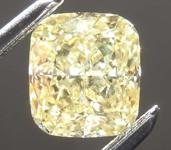 1.01ct Intense Yellow SI2 Cushion Cut Diamond R8084