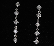 .54ctw H VS1 Princess Cut Diamond Earrings R8007