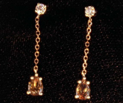.46ctw Pink and Brown Diamond Earrings R8061